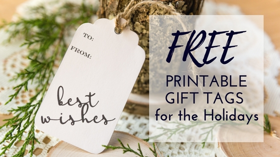 free printable gift tags for the holidays