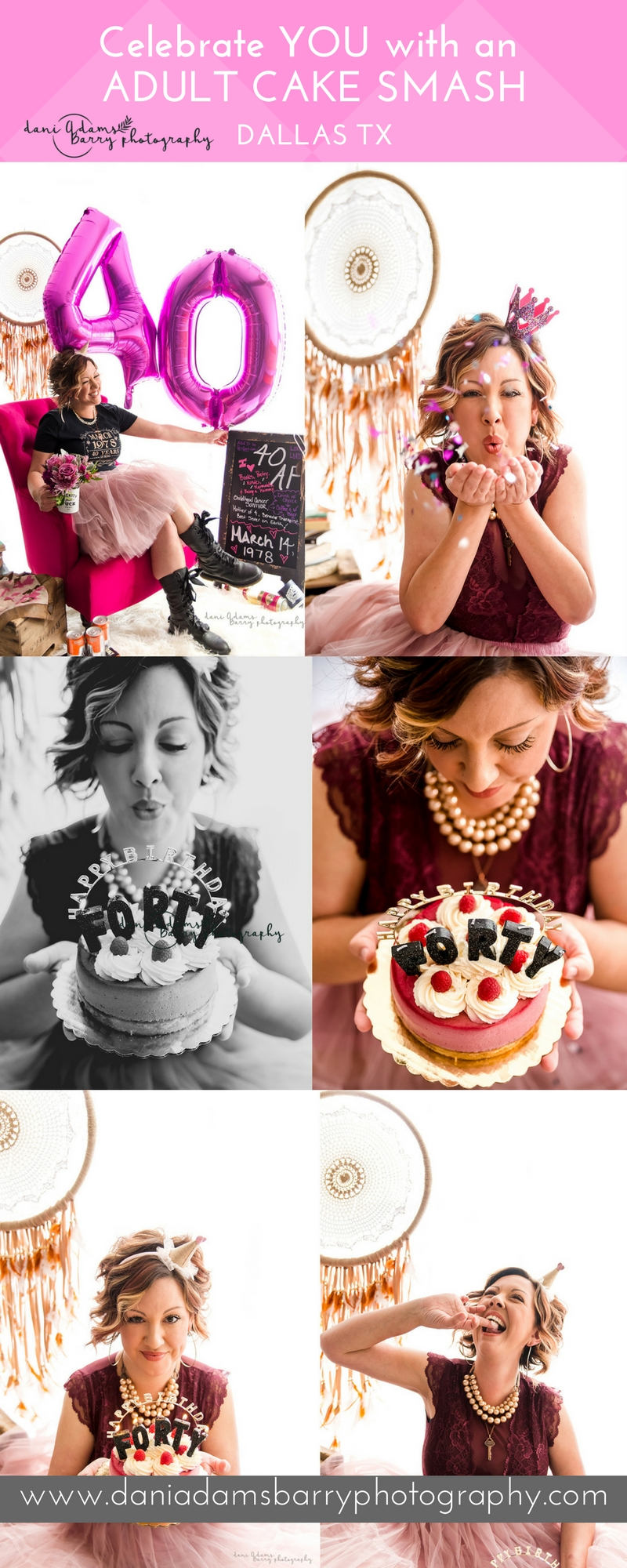 Celebrate You With An Adult Cake Smash Photo Shoot Dallas Texas Photography