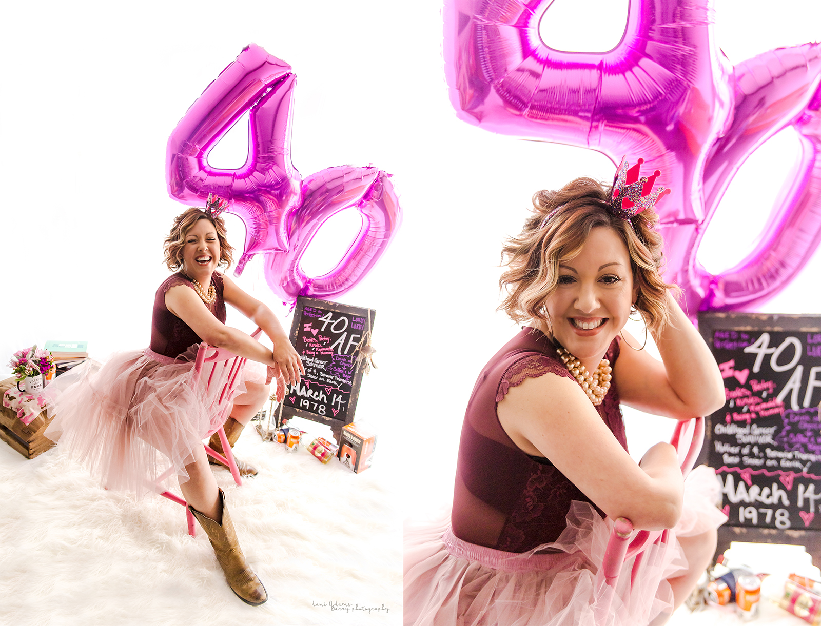 forty year old adult cake smash dallas texas photography