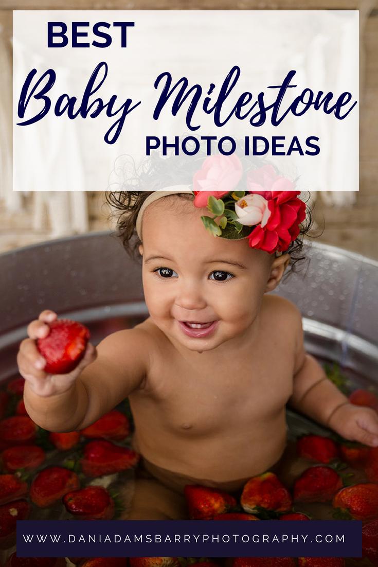 Baby Milestones Berry Bath - Dallas TX Milestone Photography