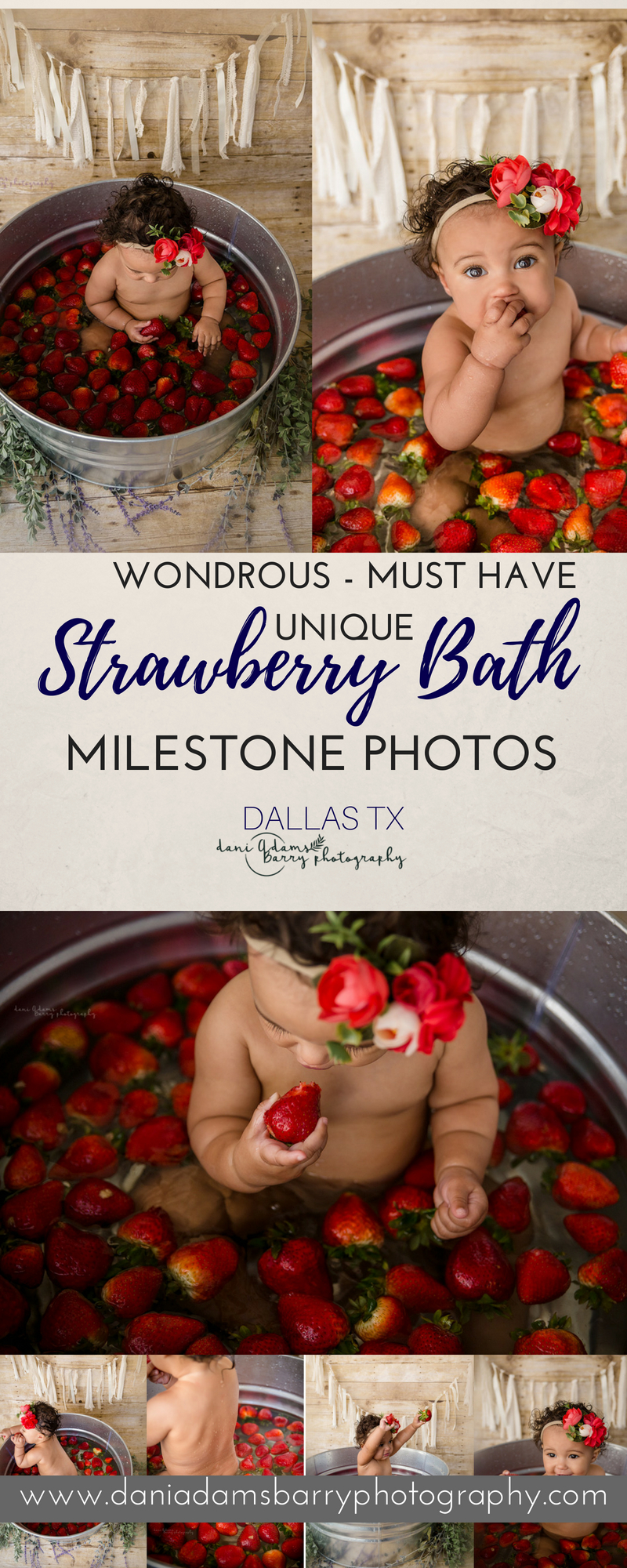 Baby Milestones Berry Bath Dallas Tx Milestone Photography